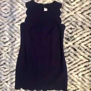 JCrew scalloped dress